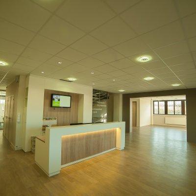 Hall d'accueil et bureaux